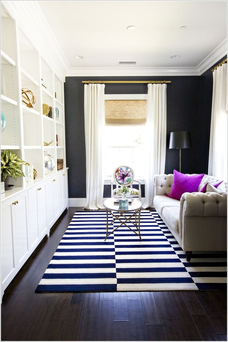 Good Small Sitting Room Design Ideas Part - 9: 4. Monochrome With Color