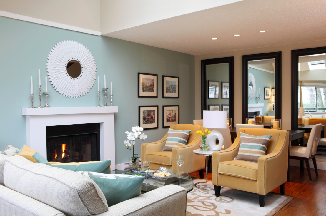 50 best small living room design ideas for 2017 for Tiffany blue living room ideas
