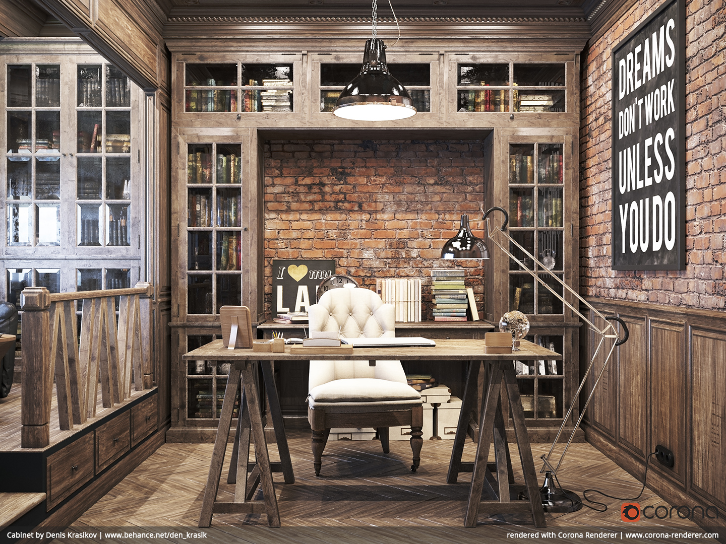 Home Office Decor For Men Part - 47: Rustic Home Workspace