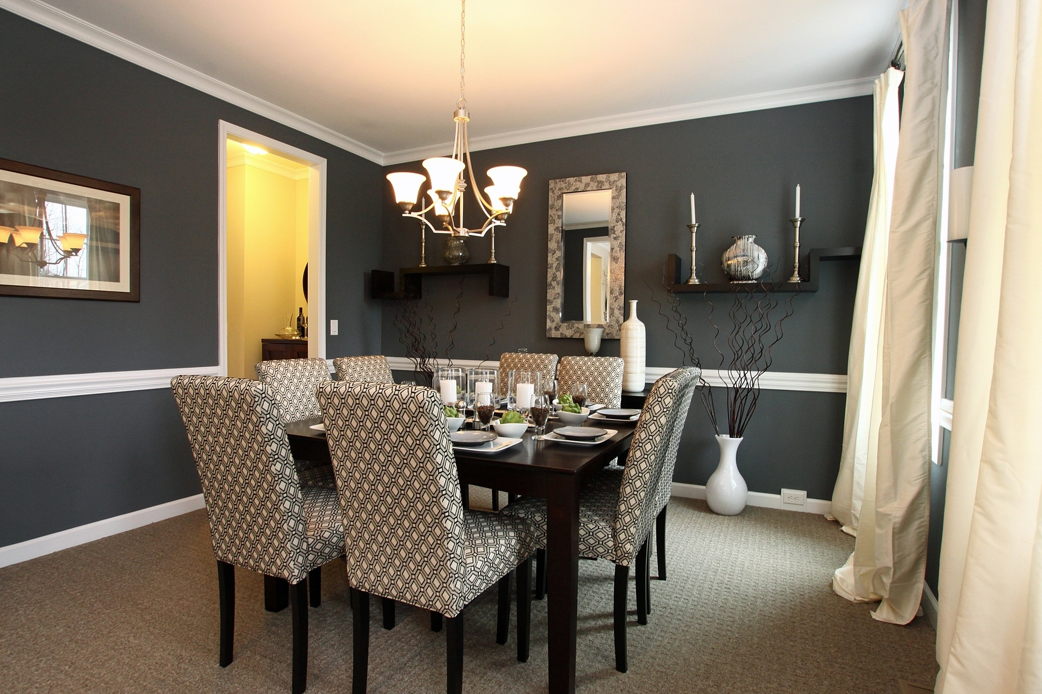 50 best dining room sets for 2017 for Dark grey dining room