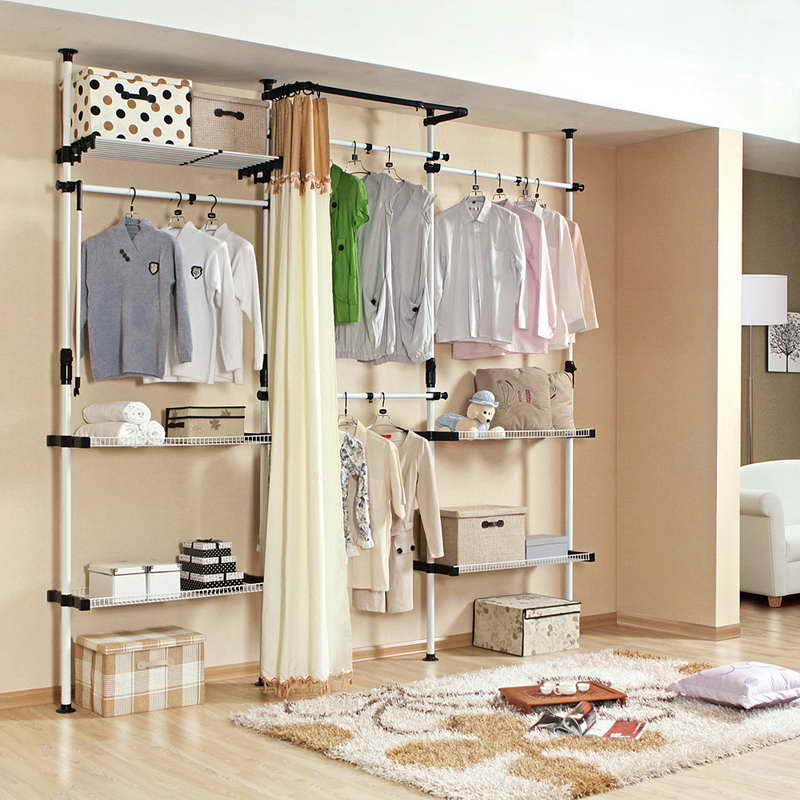 Delightful Temporary Closet Storage Solution