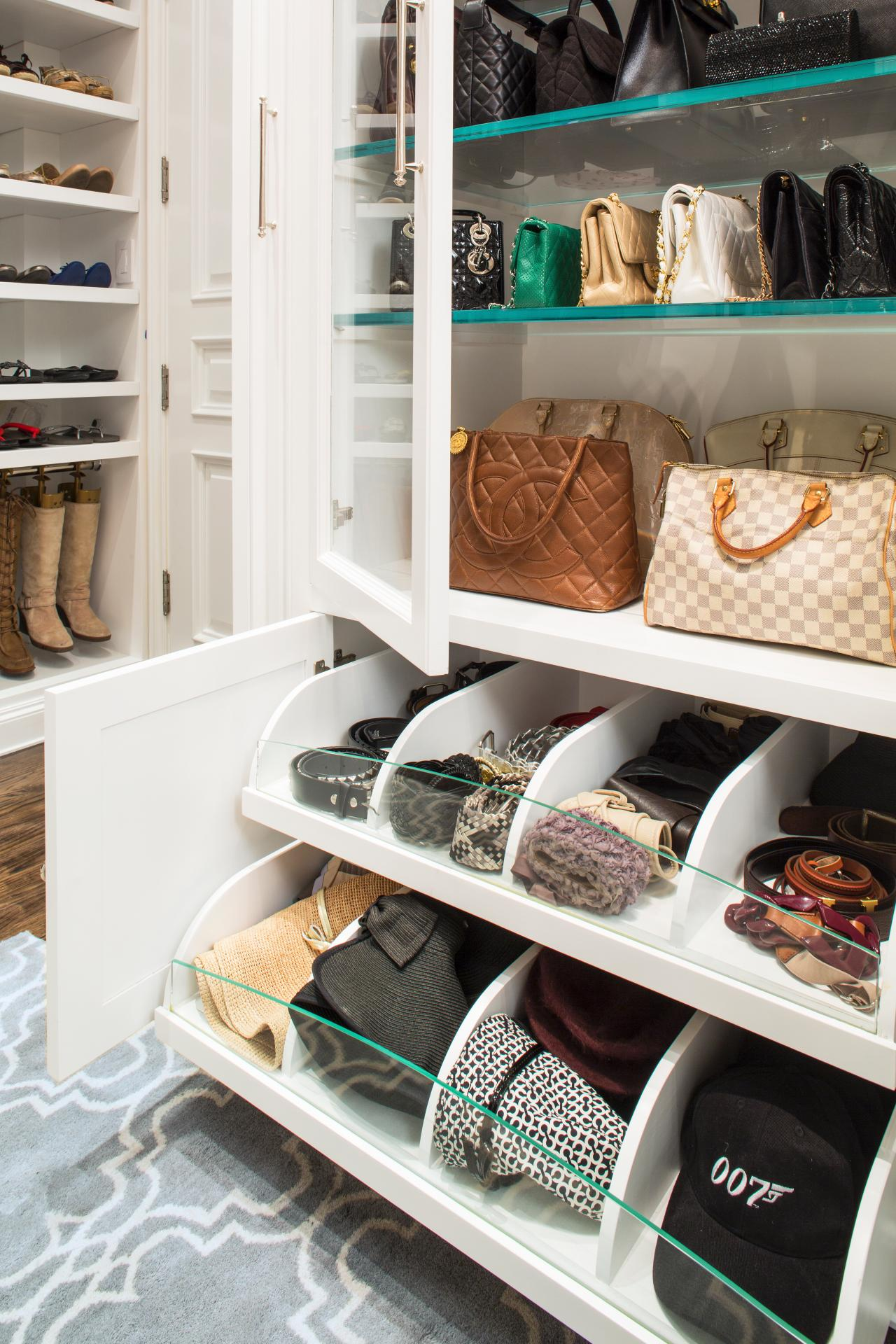 Delightful Purse Holder For Closet Storage Anization. 23. Custom Cabinetry Saves The  Day