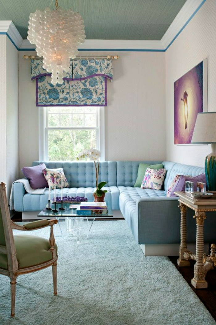 Fascinating Blue Denim Living Rooms Sofas