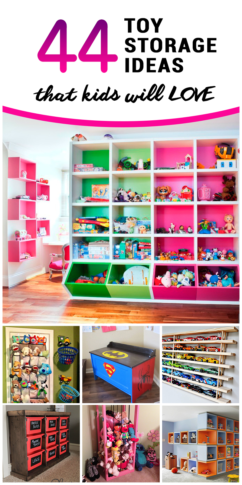 44 best toy storage ideas that kids will love in 2018 - Creative storage ideas small spaces concept ...