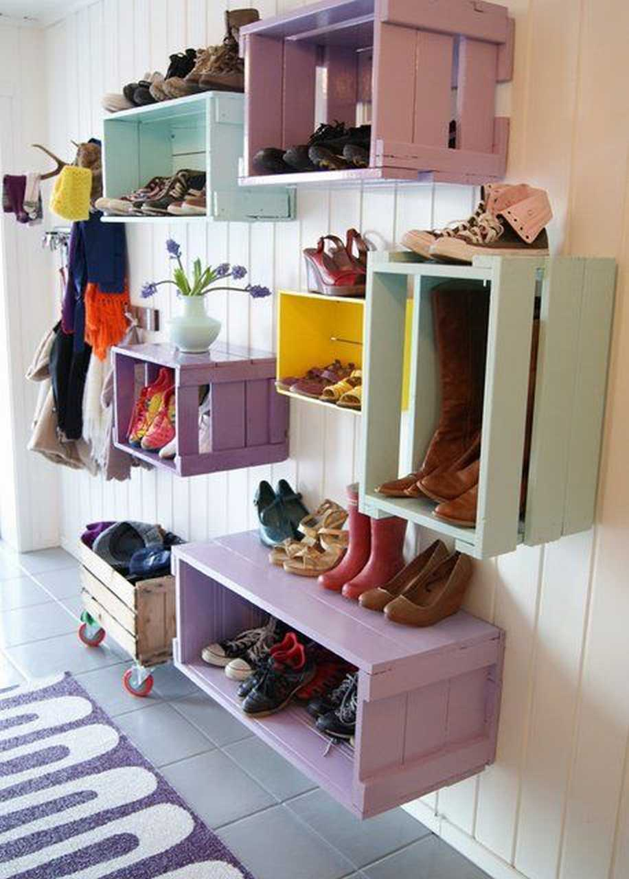 Wooden Cabinet Storage Solution