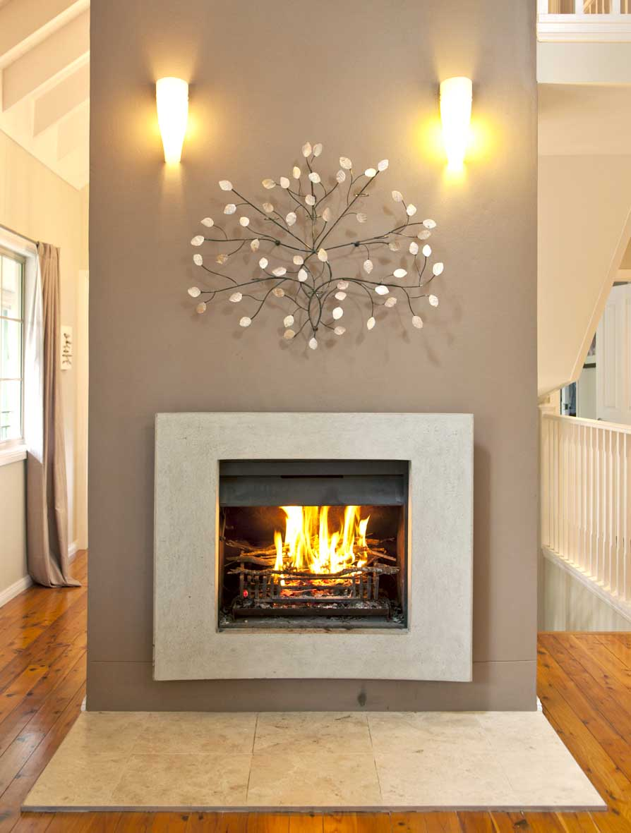 curved stone fireplace design - Modern Fireplace Design Ideas