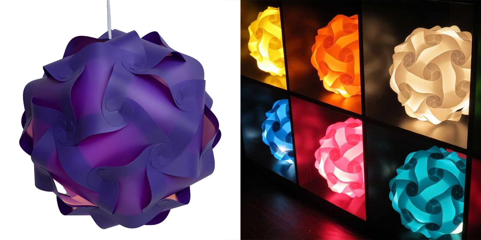 Niki Nu Lites Puzzle Lamp in Various Colors