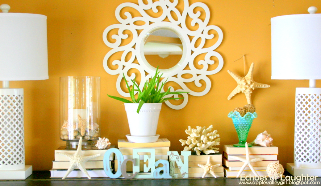 bright and bold summer decor - Ocean Themed Home Decor