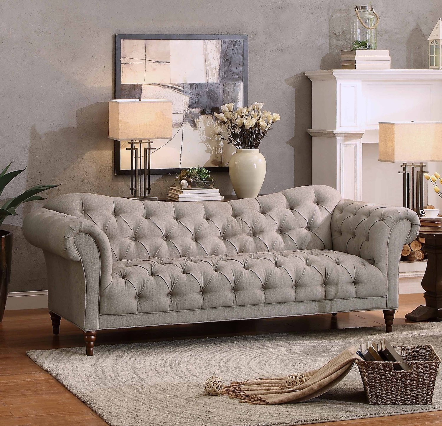 Homelegance Chesterfield Style Love Seat