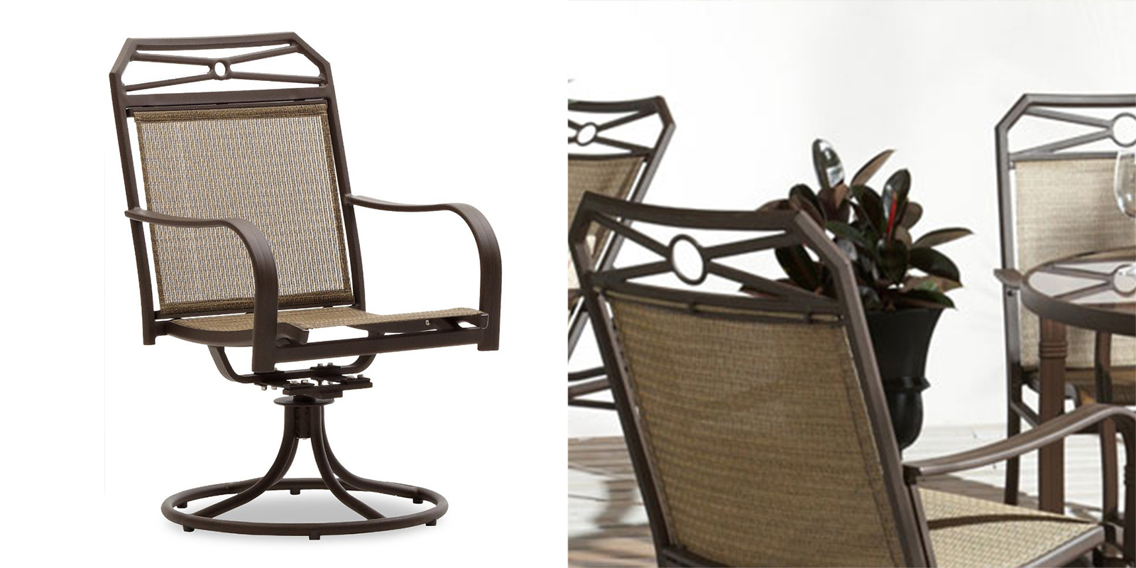 Patio Chair   Swivel Rocker Arm Chair