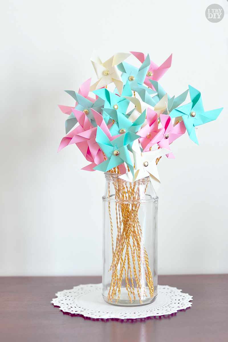 Summer design Pinwheel centerpiece