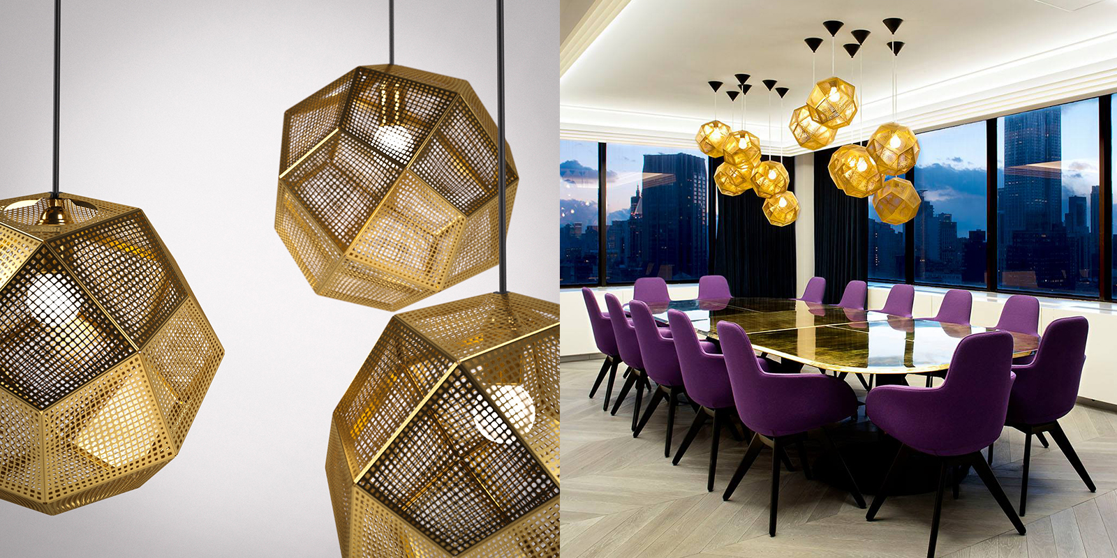 Thinking Lights Gold Geometric Space Ball Chandelier