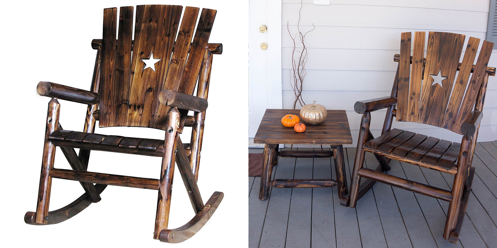 Patio Chair - Single Rocker with Star