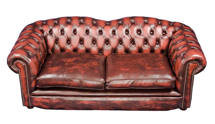 Braunton Style Leather Chesterfield Sofa