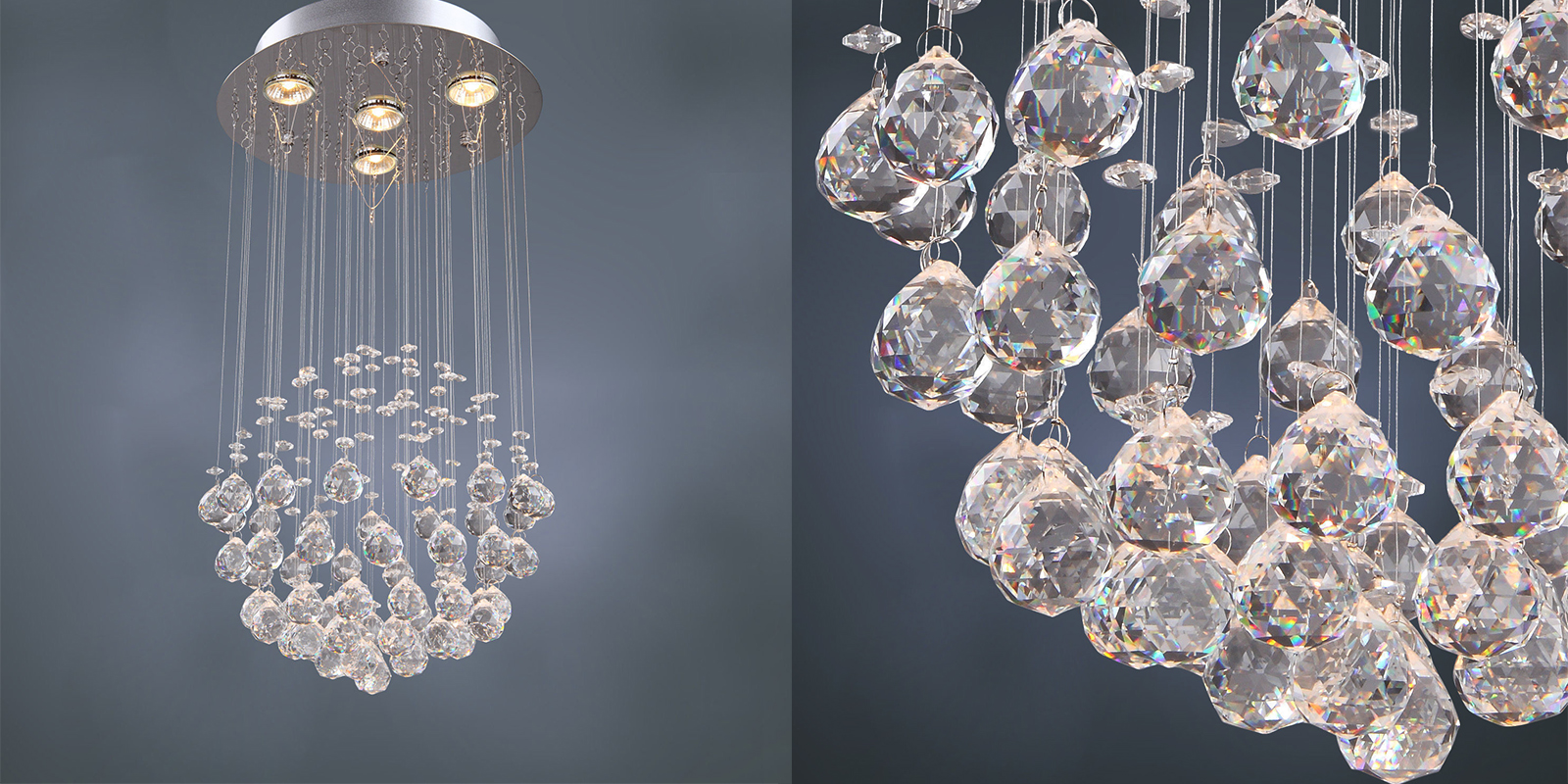 Gallery Crystal Ball Raindrop Chandelier