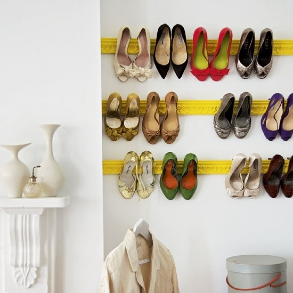 50 best shoe storage ideas for 2018 wall shoe hangers solutioingenieria Image collections
