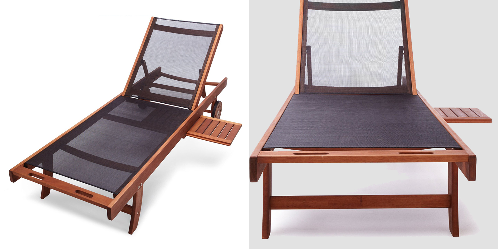 Patio Chair - Chaise Lounge with Fabric