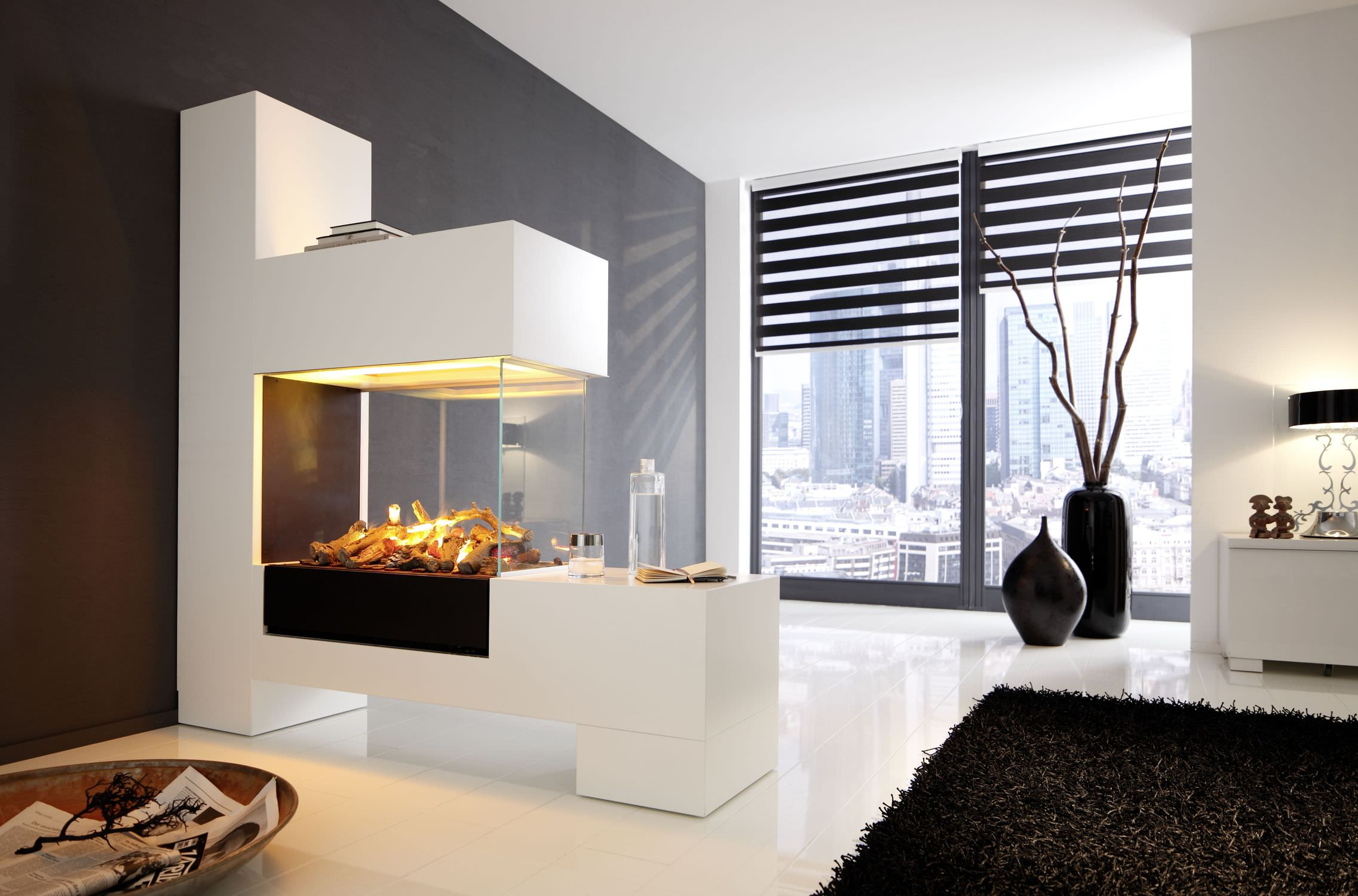 50 best modern fireplace designs and ideas for 2018. Black Bedroom Furniture Sets. Home Design Ideas