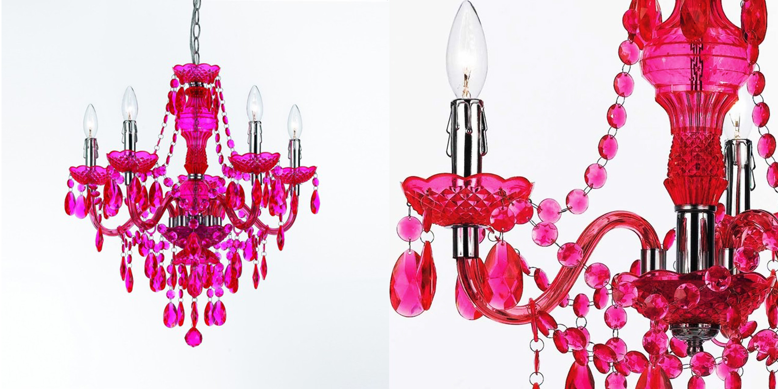 AF Lighting Fuchsia Mini Chandelier