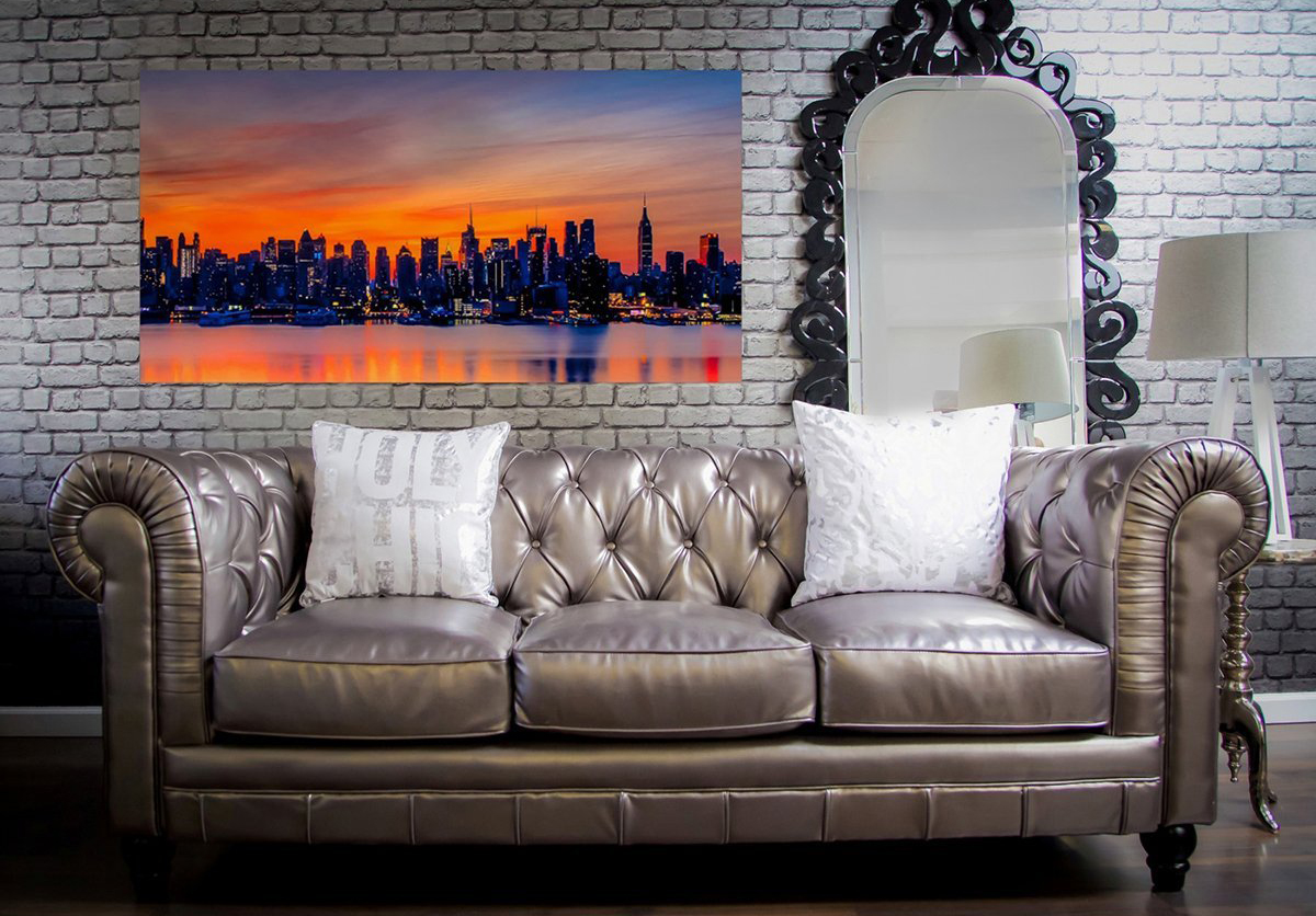 TOV Furniture Zahara Silver Leather Sofa
