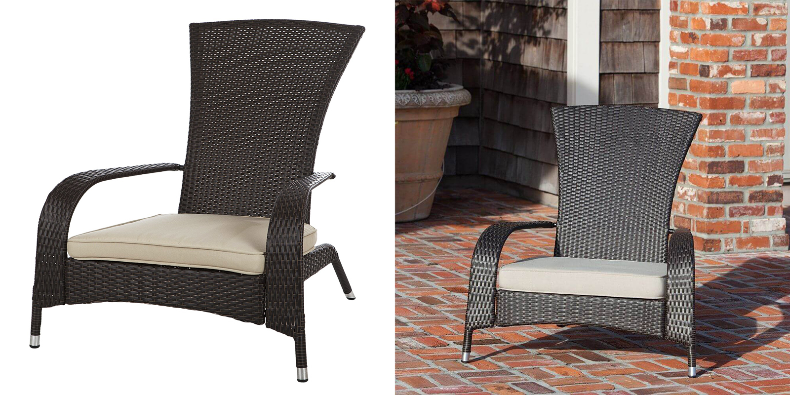 Patio Chair - Wicker Adirondack Chair