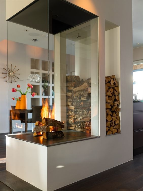 16 Unique Modern Fireplace Design Ideas