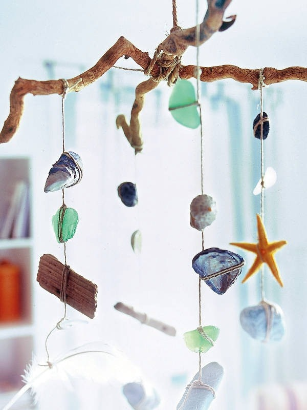 Sea-inspired wind chimes for summer room ideas