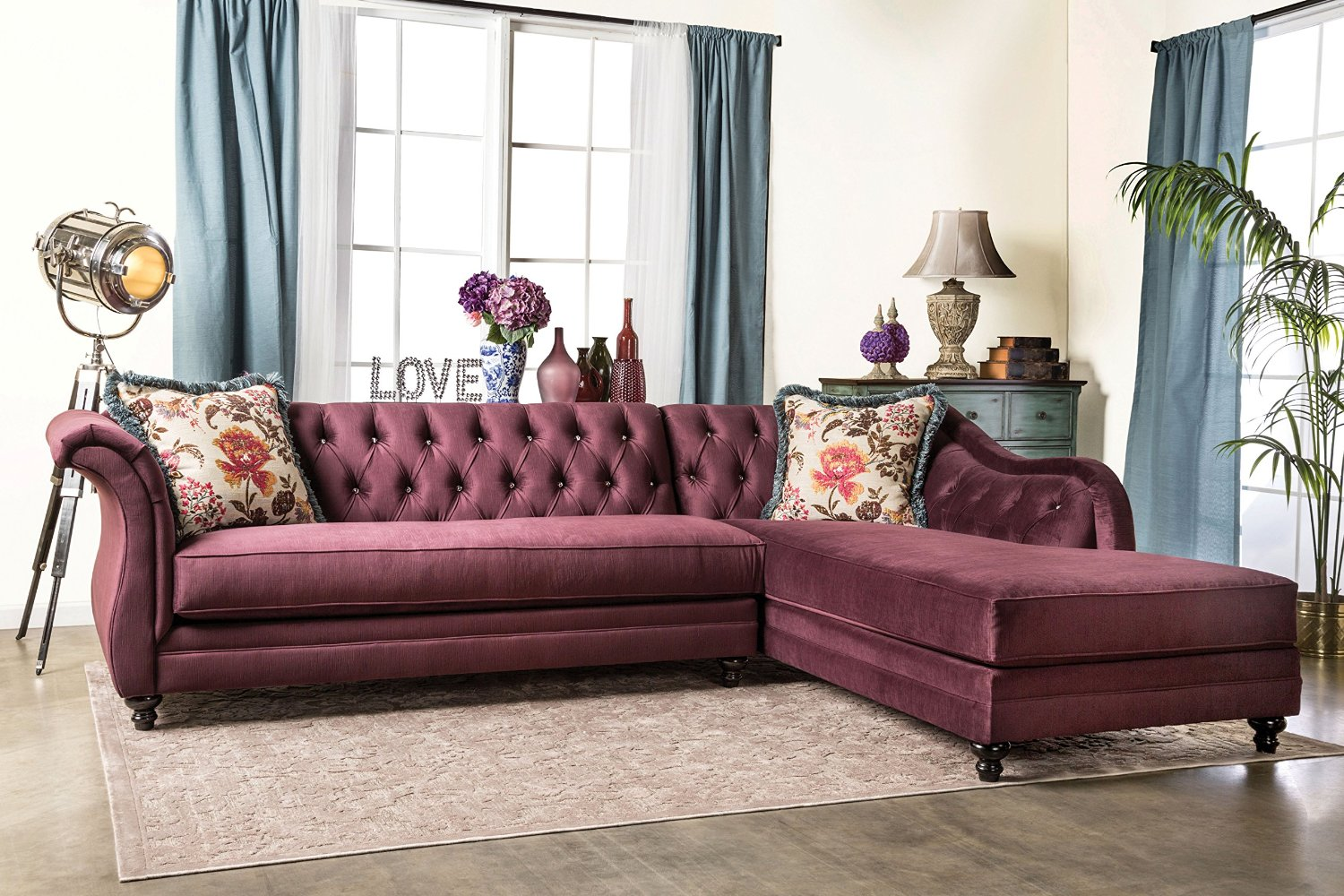 Furniture of America 2 Piece Corinee Glamorous Sectional Sofa. 25 Best Chesterfield Sofas to Buy in 2017