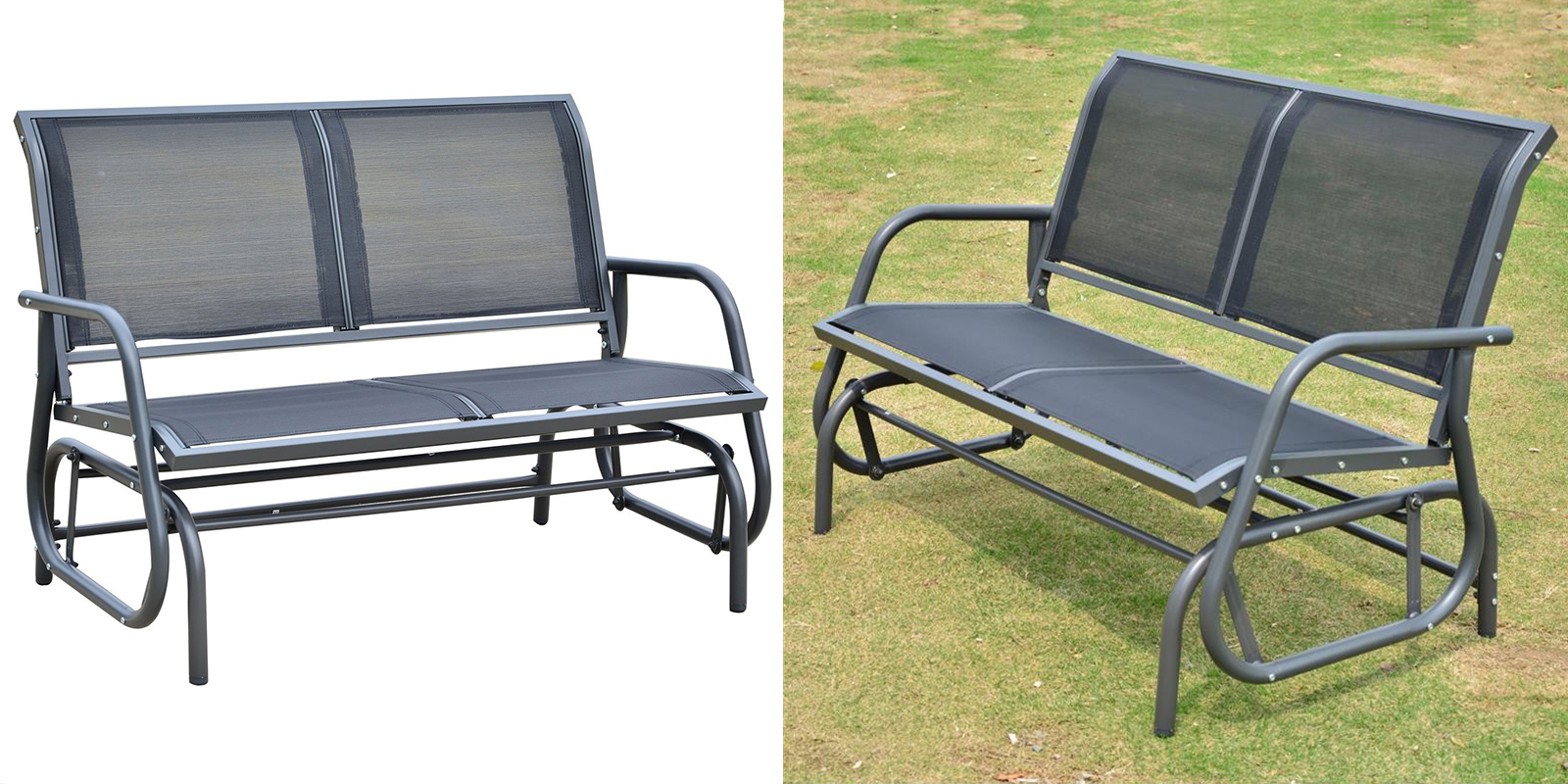Outdoor Patio Glider Bench Swing
