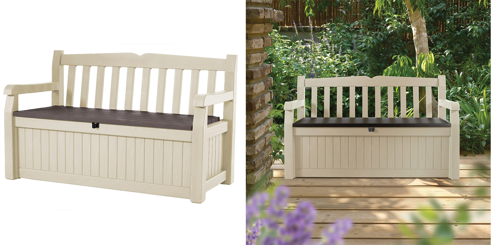 Patio Chair - Outdoor Patio Storage Bench