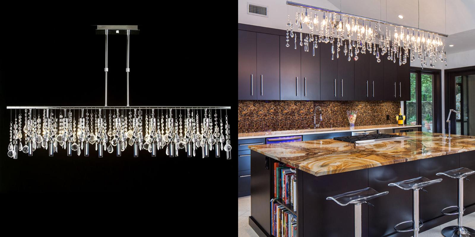 best chandeliers kitchen chandelier lighting Linear Crystal Chandelier