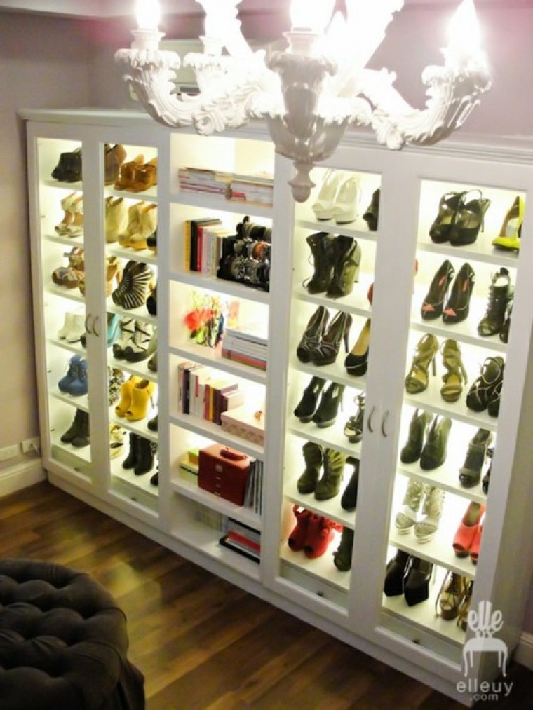 Back Light Shoe Cabinets Part 16