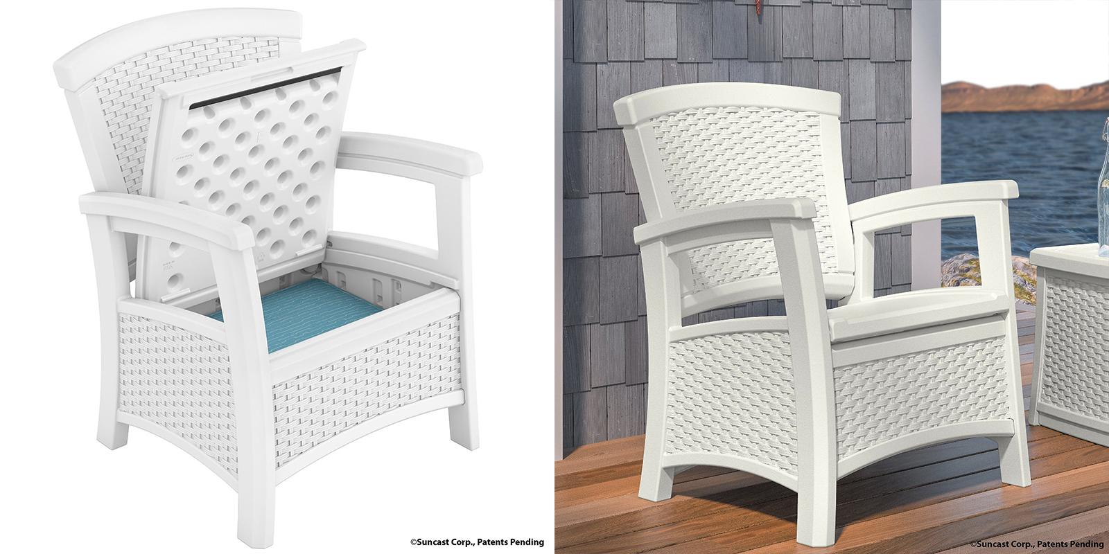 Patio Chair - Resin Storage Club Chair