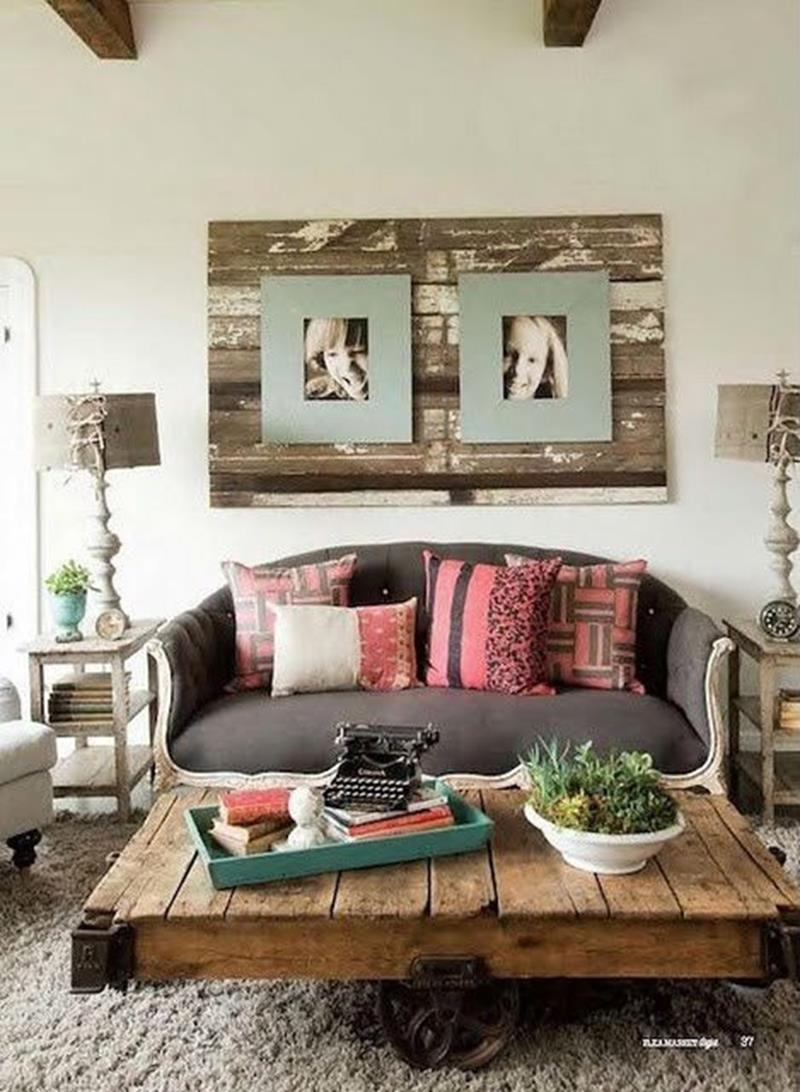 Shipwrecked Coffee Table and Backsplash