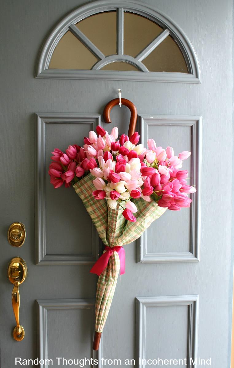 Umbrella door wreath