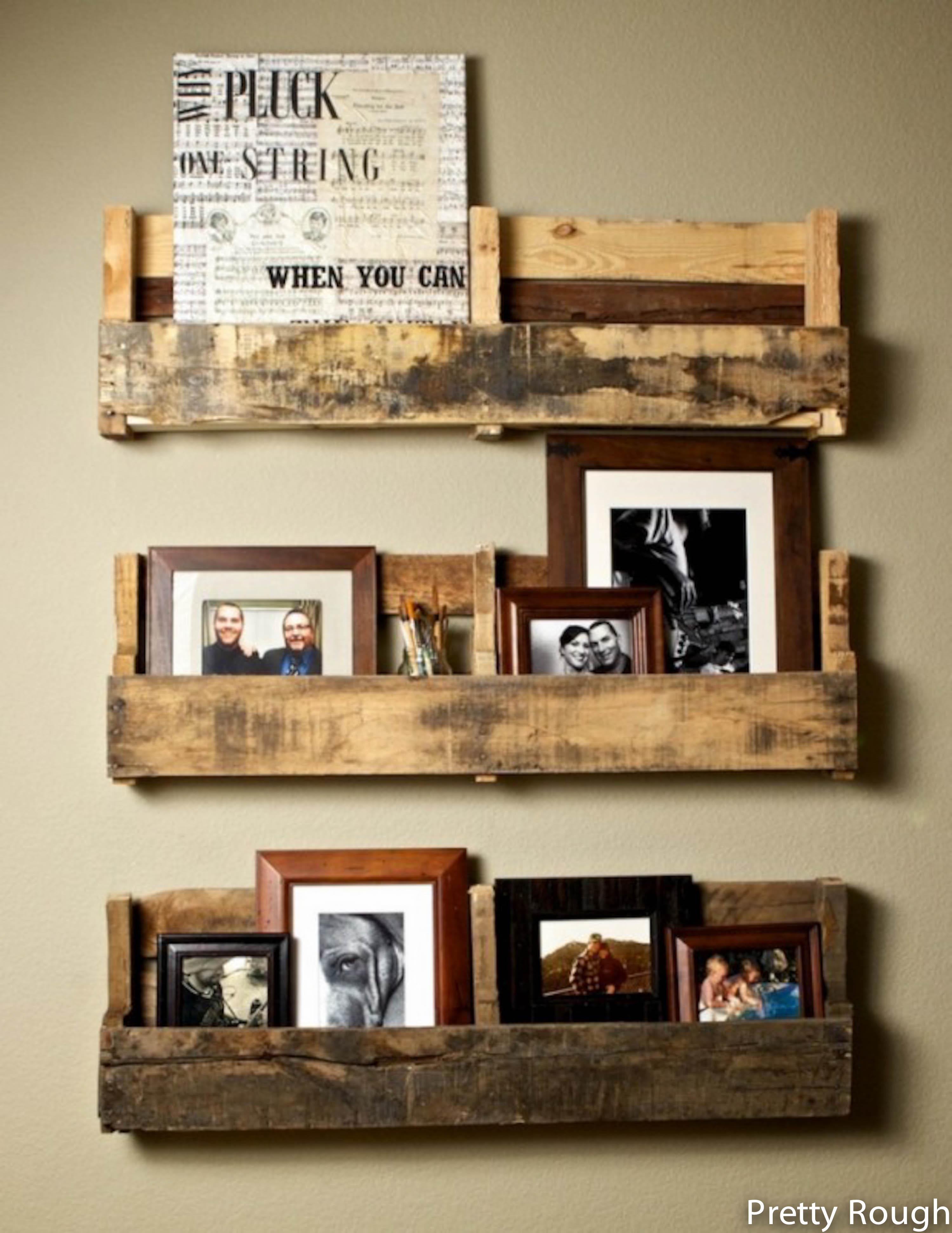 Single Row Wooden Shelves