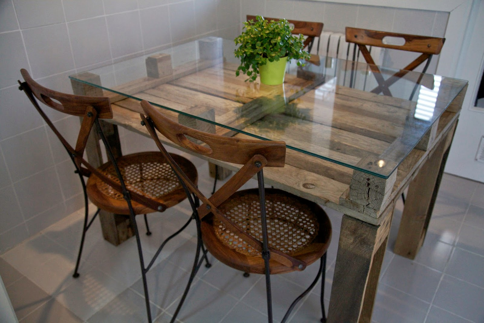 Small Glass Topped Dining Table