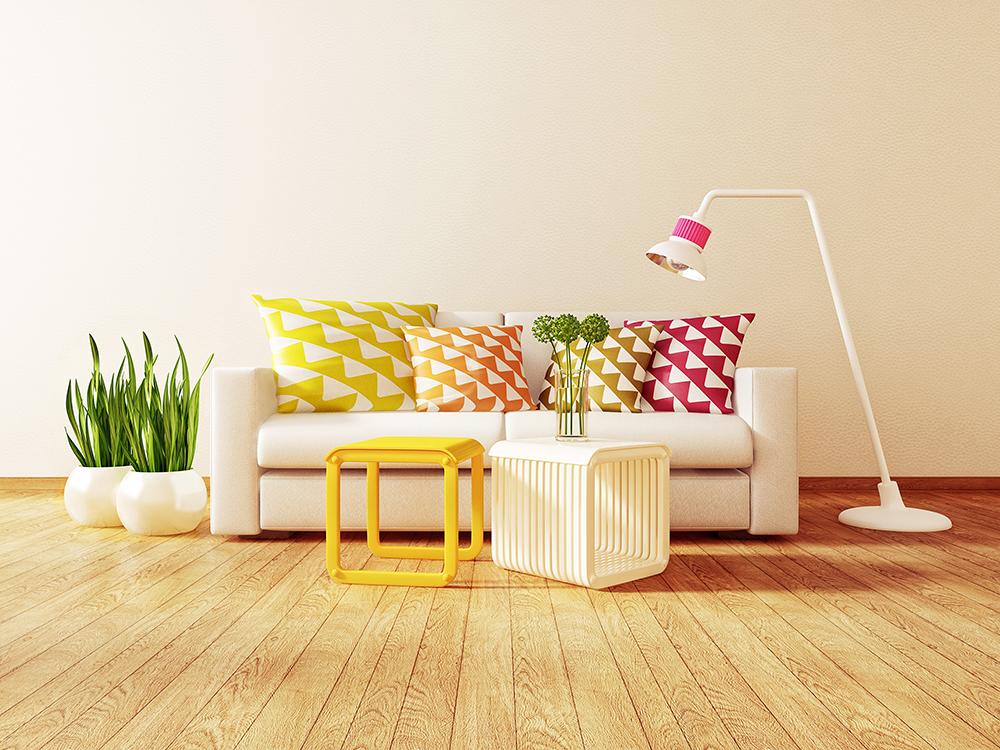 Summer inspired living room