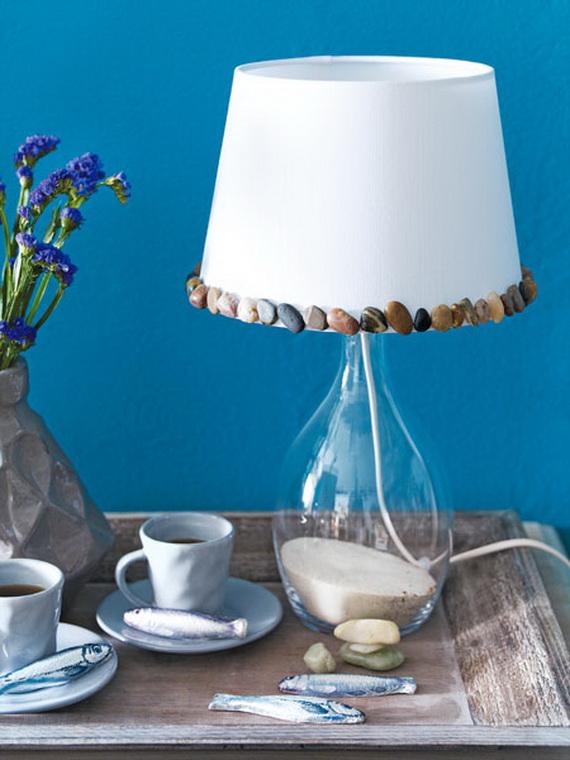Handmade coastal lamp shade homebnc handmade coastal lamp shade aloadofball Images