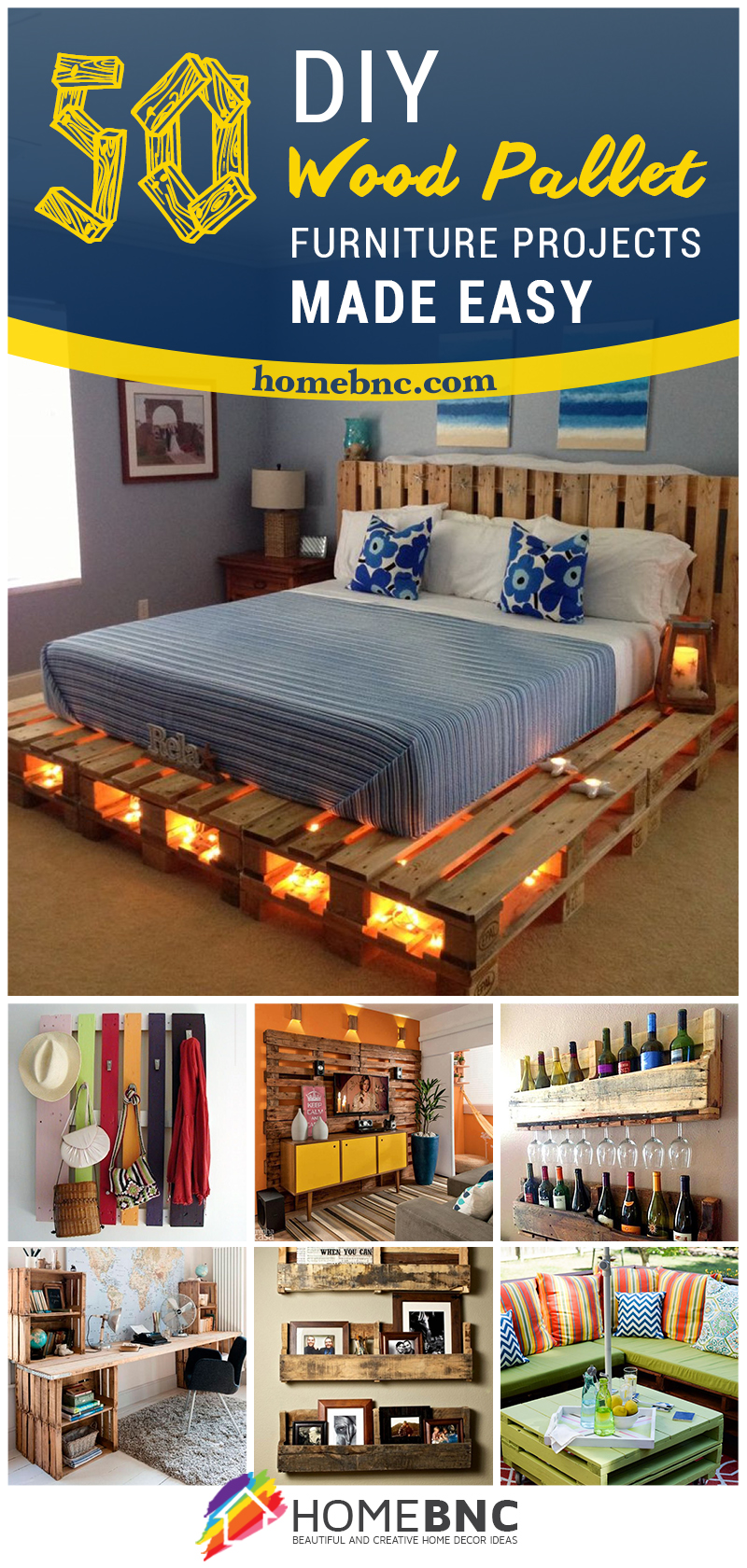 50 Best Creative Pallet Furniture Design Ideas for 2017
