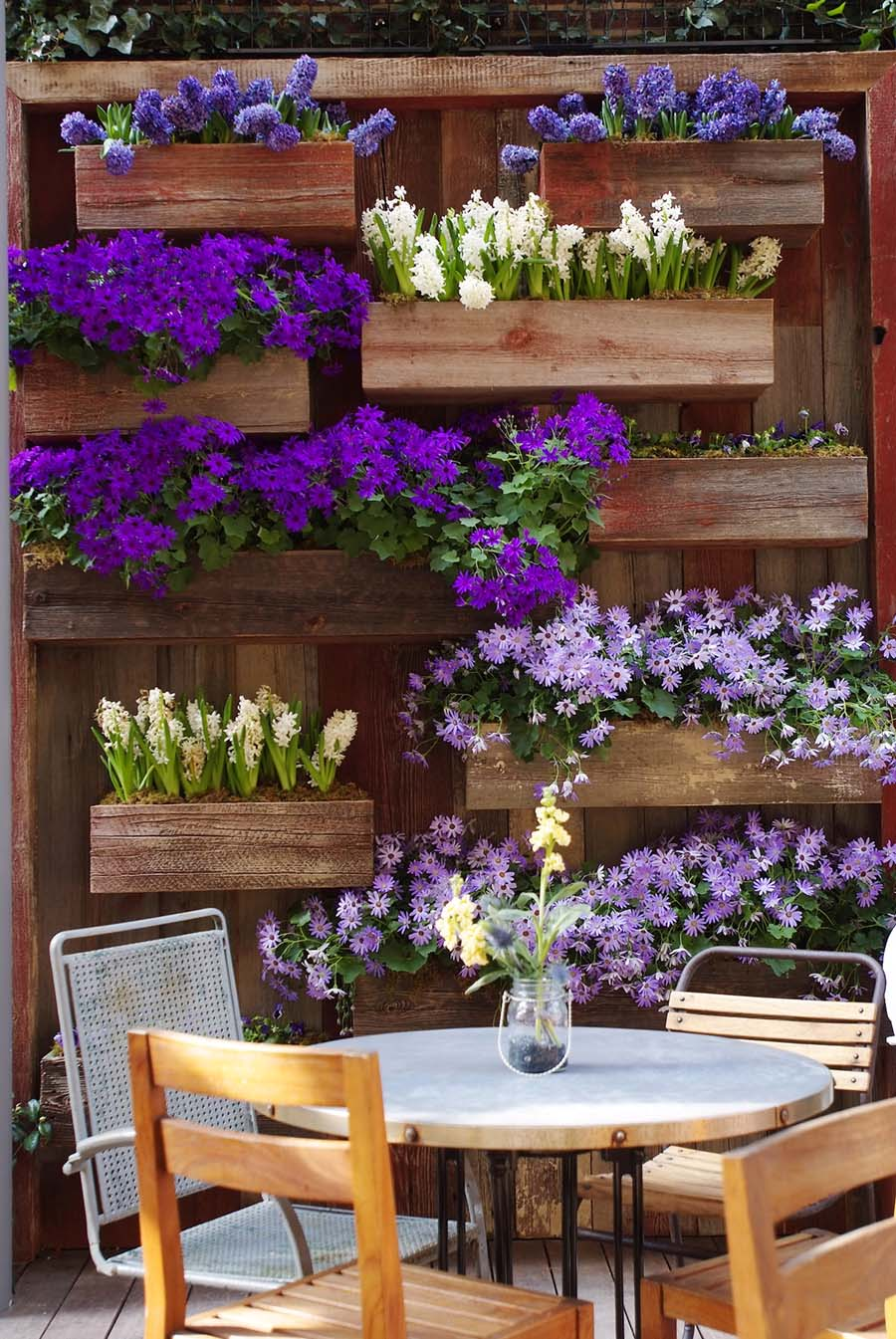 Vertical Gardening Ideas 12 an unusual twist on kitchen spice jars Frame A Patio Space With A Beautiful Hanging Garden