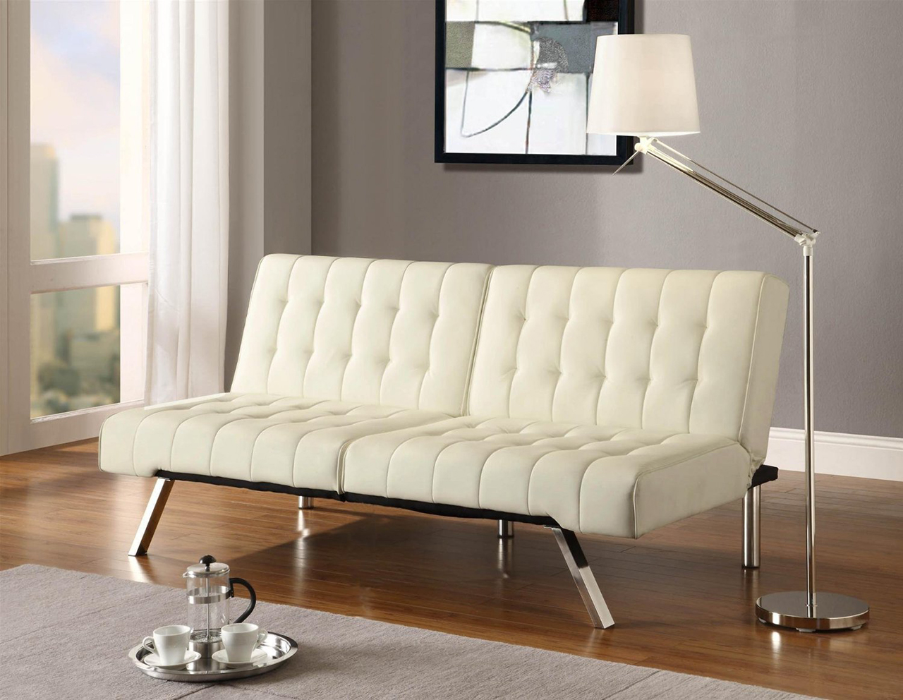 Most comfortable sofa ever - Dhm Convertible Sofa In Vanilla