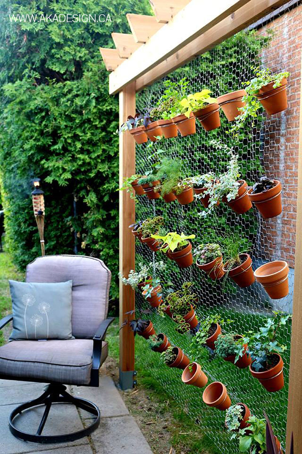 create an airy garden backdrop with simple chicken wire - Garden Design Ideas