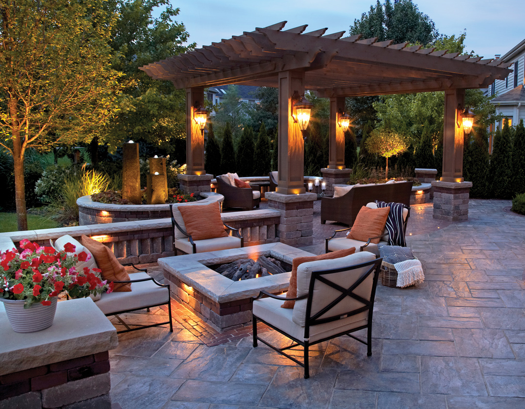 separate spaces fireplace ideas - Patio Design Ideas With Fire Pits