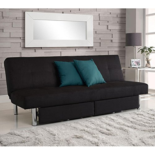 Wonderful Sleeper Sofa   DHP Sola Convertible Sofa With Storage In Black