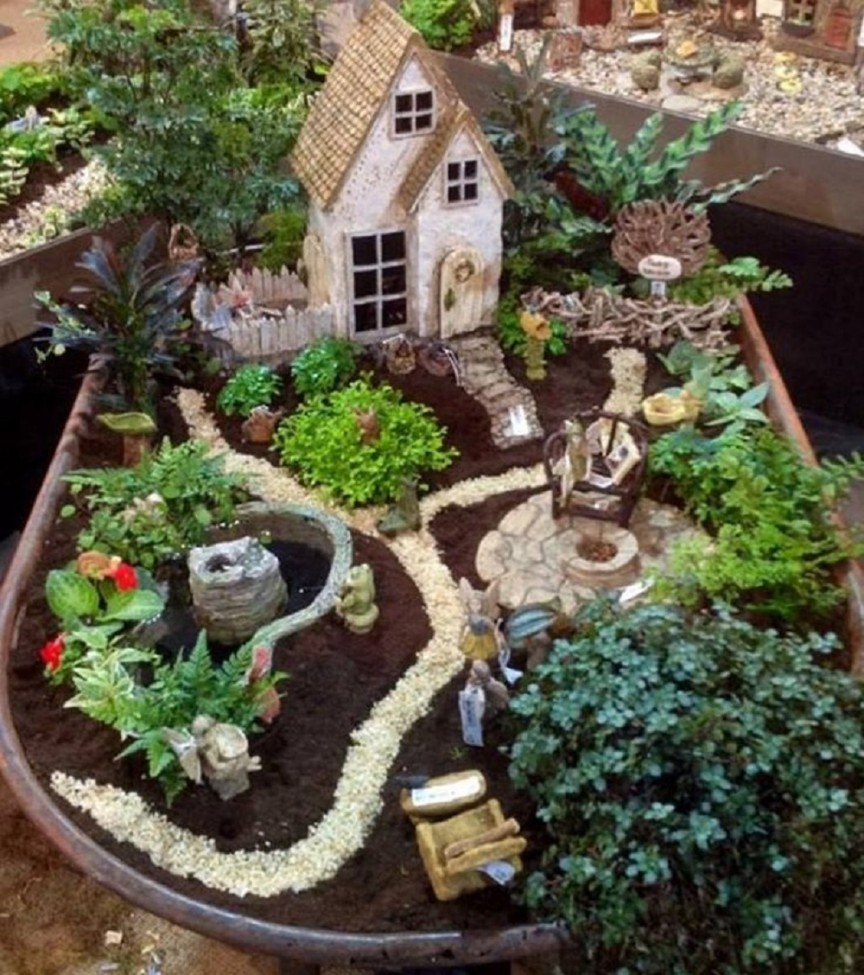 Ideas For Fairy Gardens fairy garden for sarah and emma like the moss on the cottage Fire Up The Grill Guys