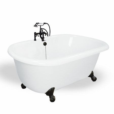 T070F OB Melinda 60 inch White Acrastone Bath Tub from American Bath Factory. 20 Best Small Bathtubs to Buy in 2017