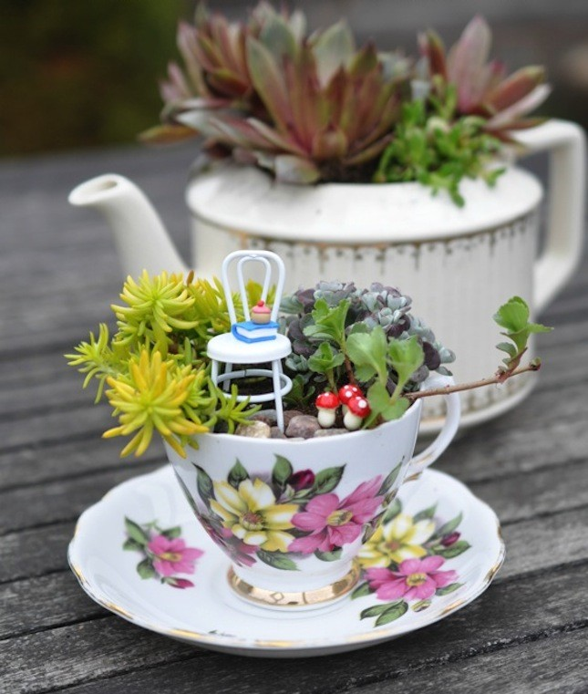 have a diy fairy garden tea party - Fairy Garden Design Ideas