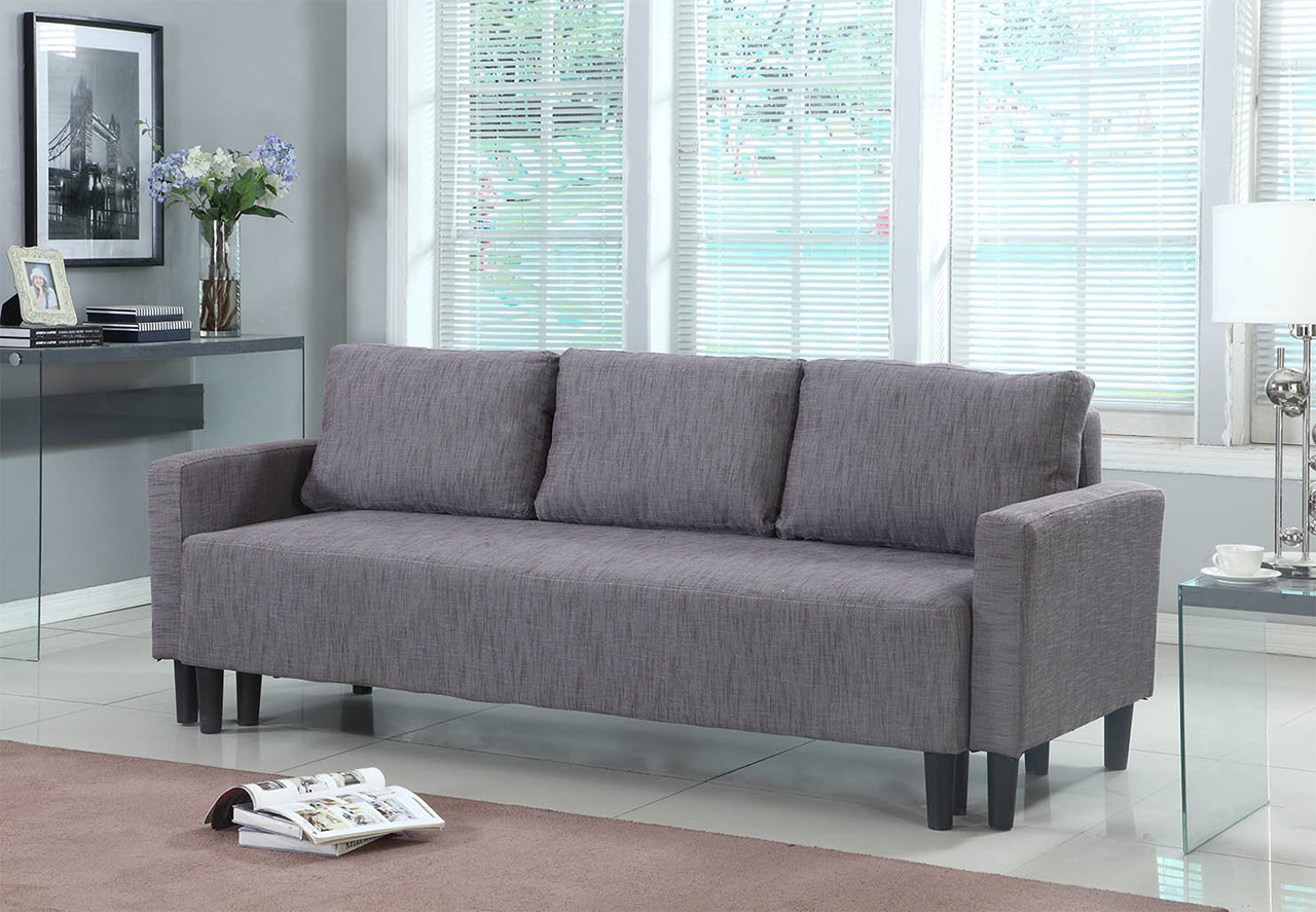 best sleeper sofa beds to buy in  - modern contemporary upholstered quality sleeper sofa futon in greybrown