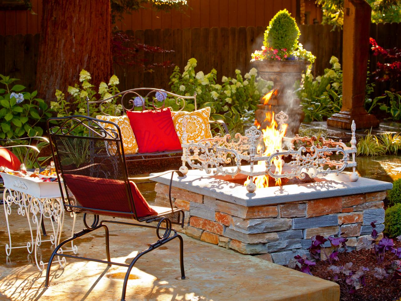 Backyard Landscaping Ideas With Fire Pit fire pit patio design ideas 16 5 Fit For A Fairy